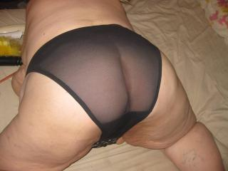 Striping off panties