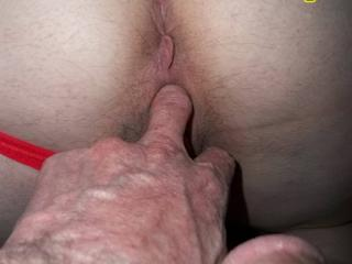 Ass in red panties