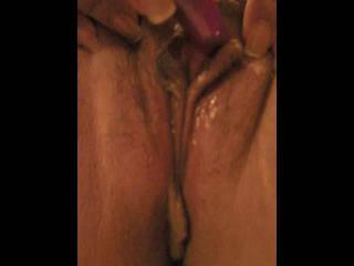 BBW toy play & pussy cumshot