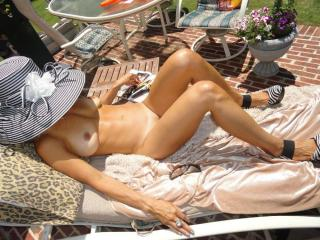 Jade...tanning in the backyard 1 of 20