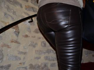 Leather Milf at the hotel