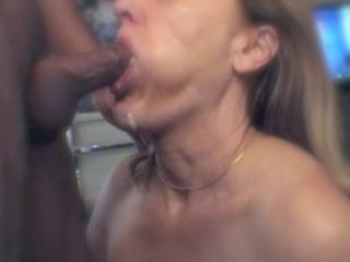 Up close cocksucking and facial