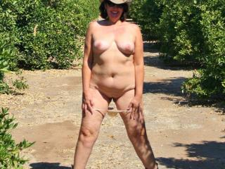 stripping in a orange orchard