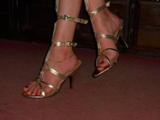 Feet, heels and stockings