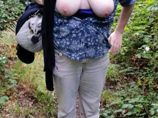 sexy walk in the woods