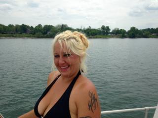 Hot Blonde Milf the Boat Dock Bitch!