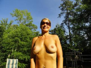 Jade...tanning in the backyard 19 of 20