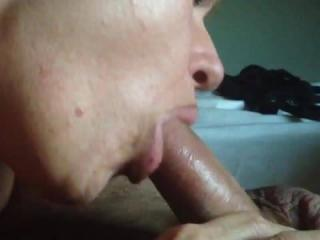 cum slut deep throat blow job part 2/2