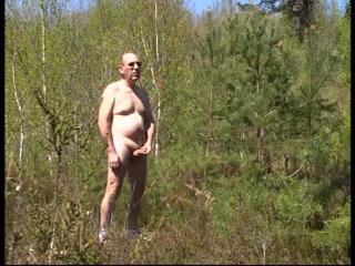 Posing outdoors