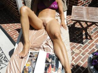 Jade...tanning in the backyard 2 of 20