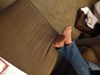 My candid pantyhose feet