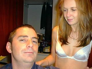 Kirsty, White Bra & Shaved Cunt!