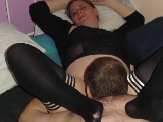 Slave eating my wet cunt