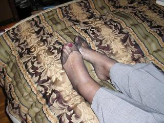 My feet in pantyhose