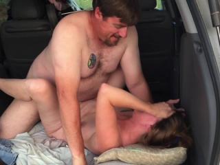 Wife films me fucking GF in back of car