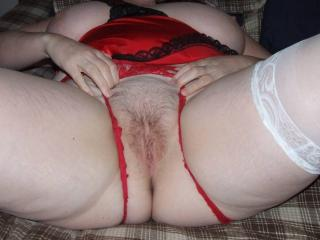 Ripping the red panties