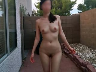 Ivy is naked in outdoor