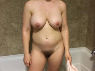 My wife's naked body