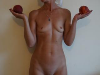 Woman and Peach 2 of 7