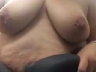 Mature dressing room tits