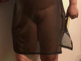 Just a flimsy see through minidress