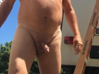 Outside nude