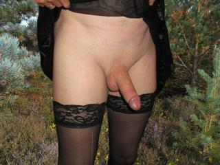 Crossdresser monster dick outdoor wife