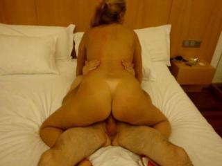 Slut wife riding her bull