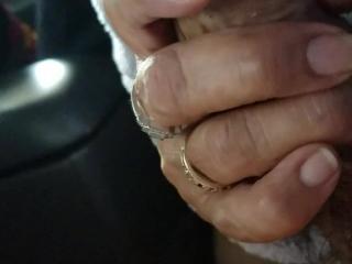 Licking his balls