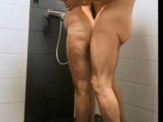 Playing in bathroom