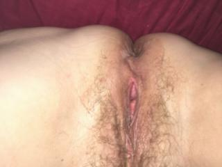 Wife in bed unshaven