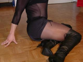 Catsuit, Nylons and Heels