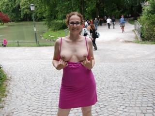 Nude in public park 5 of 20