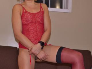 red bustier and stockings3 11 of 20