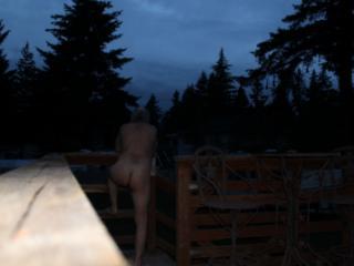 Nude outside