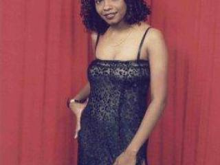 Ebony girl in lace