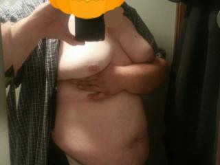 Naughty fat guy