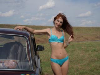 In light-blue bikini 2
