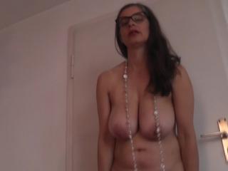 Busty Tina - A short striptease