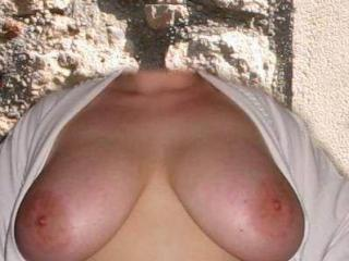 Cum on my Fanny tits!!!