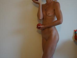 Woman and Peach 3 of 7