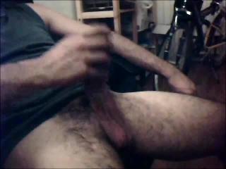 Jerking my cock cum