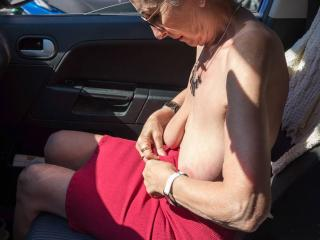Undressing in my car