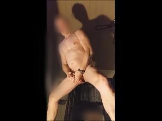 jerking bondage bdsm cock in front of my webcam