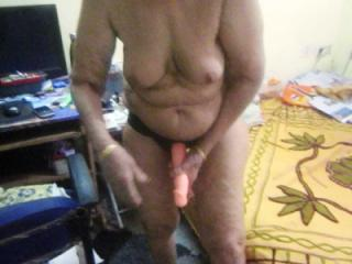 Wife wearing the toy, 2