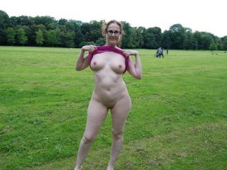 Nude in public park 4 of 20