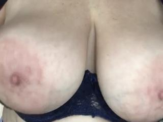 Big boobs popping out of my bra