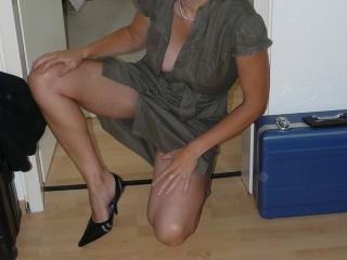 New high heels / Neue Schuhe geiles Kleid!