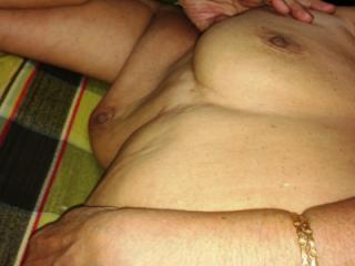 Nude shining sleep