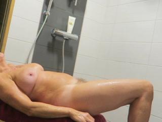In bathroom
